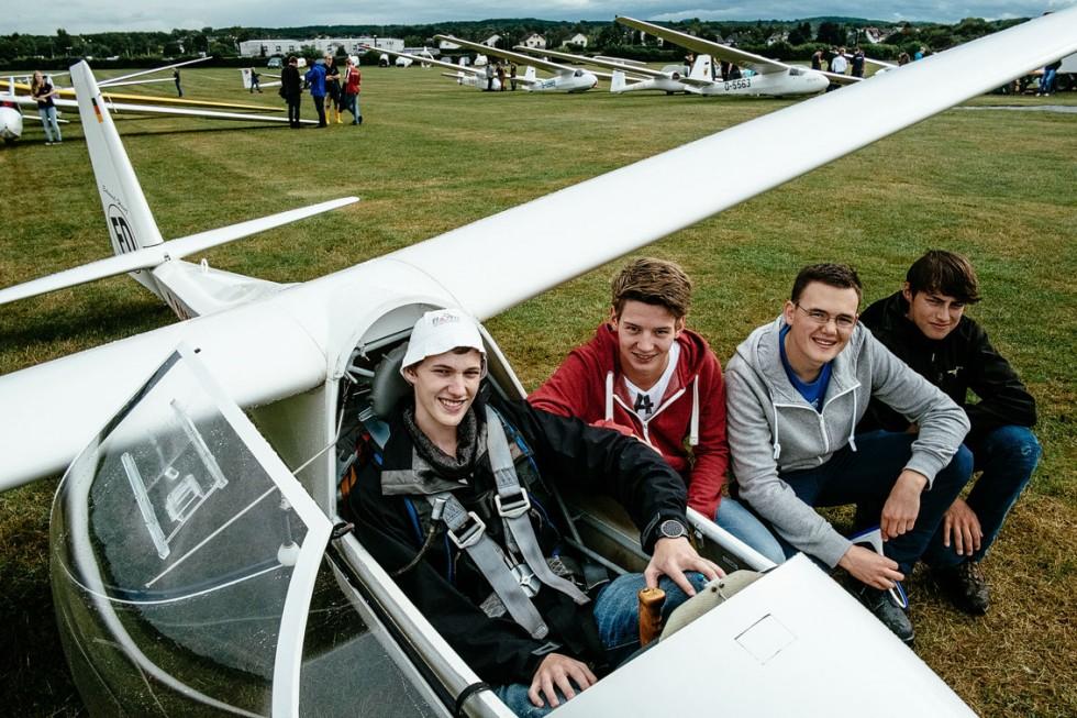 Das Team Langenfeld beim Jugendvergleichsfliegen in Hangelar.